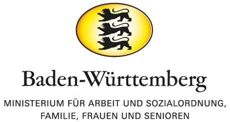 Das Logo des Ministeriums für Arbeit & Soziales, Familie, Frauen & Senioren.